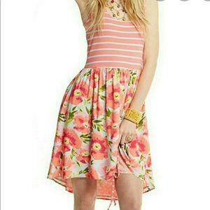 Matilda Jane Happy and Free Macaron Floral Striped